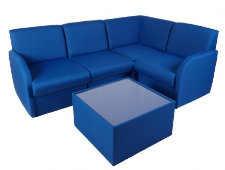 Modular Fabric Office Reception Seating 30 Colours Made to Order in the UK